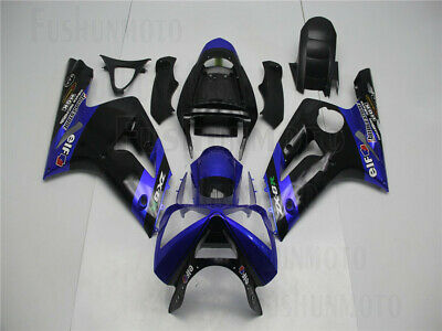 $479 • Buy Blue Black Injection Fairing Fit For 03-04 Kawasaki Ninja ZX-6R 636 Plastics Set