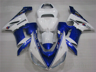 $489 • Buy Blue White Injection Body Kit Fairing Fit For 2005-2006 Ninja ZX-6R 636 Mold ABS