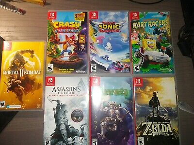 $93 • Buy Nintendo Switch Video Game Lot