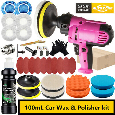 5  Rotary Car Polisher Buffer Sander Machine Polishing Cover Pads Wax Towel Kit • 37.59£