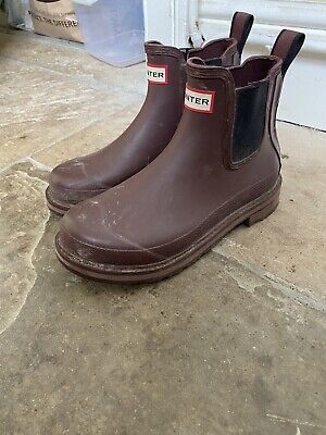 HUNTER Women's Wellies Short Ankle Boots Size 5 • 55£