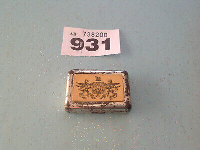 Vintage Tin Vesta Case -my Trust Is In God Alone With Coat Of Arms On Lid • 11.99£