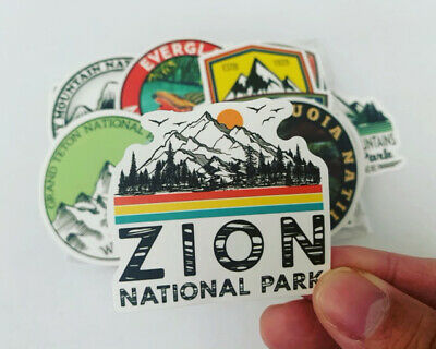 $7.50 • Buy 50 National Parks Outdoors Stickers Decals For Hydro Flasks, Laptops