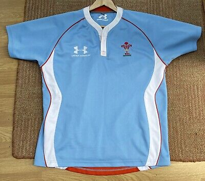 Under Armour Men's 2019/20 Wales Rugby Seven's And Pathway Jersey New Size L • 9.99£
