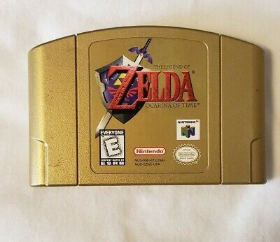 $99.99 • Buy The Legend Of Zelda: Ocarina Of Time - N64 Collectors Edition Gold Cart