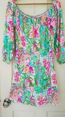 $99.90 • Buy Lilly Pulitzer Lana Skort Romper Pop Up Lilly Of The Jungle Large 08064B