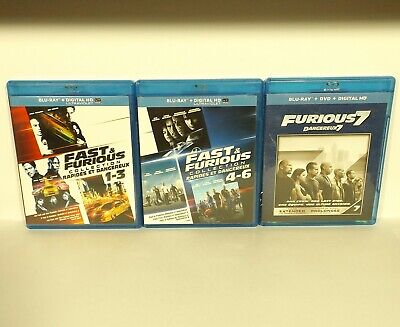 $ CDN24.99 • Buy The Fast And The Furious 1 2 3 4 5 6 7 (Blu-ray Disc, Canadian) Mint REGION A