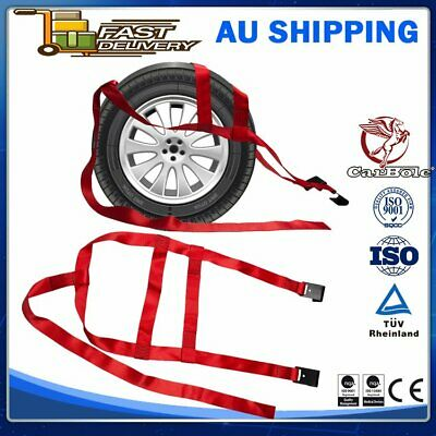 AU42.99 • Buy 2 Pack Tire Basket Straps Wrecker Car Hauler Truck Tow Dolly Tire Wheel Tie Down