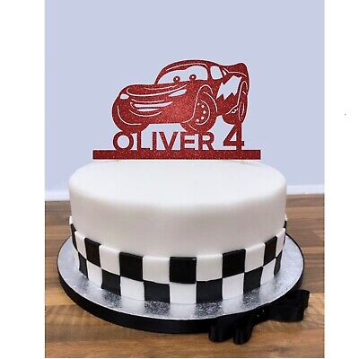 Personalised Cars Cake Topper - Lightning McQueen - Disney Pixar Birthday - Card • 6.49£