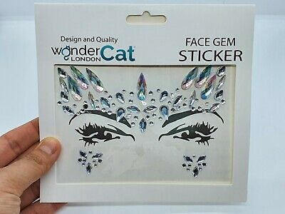 Face Gems Adhesive Glitter Jewel Tattoo Sticker Festival Party Body Make Up (45) • 1.99£