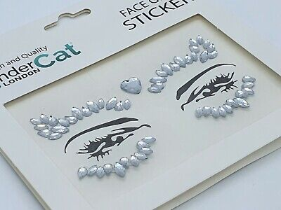 Face Gems Adhesive Glitter Jewel Tattoo Sticker Festival Party Body Make Up (75) • 1.99£