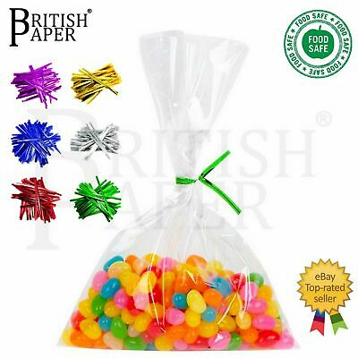 £2.84 • Buy Clear Cellophane Food Sweet Gift Cello Bags Small Large Candy Cookie Treat Party