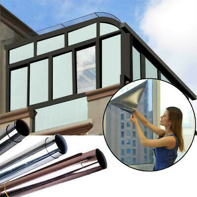 100cm Mirror Reflective One Way Privacy Window Film Sticky Back Glass Tint • 3.85£