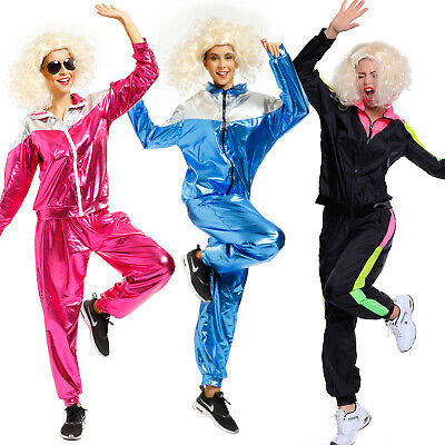 80s Shell Suit Tracksuit Costume Scouser Athlet Mens Womens Fancy Dress Outfit • 11.99£