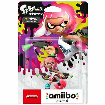 AU54.90 • Buy Nintendo Amiibo Splatoon Series Figure (Girl Neon Pink) For NS Switch