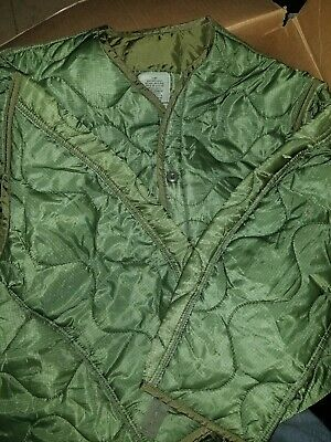 $35.50 • Buy Military Coat, M65 Quilted Foliage Green Cold Weather Field Jacket Liner Size S