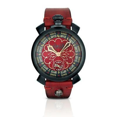 GaGà Milano Mechanical Watch Manuale 48MM Las Vegas Black PVD 5012.LV.02 • 989£