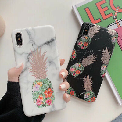 AU5.90 • Buy Soft Marble Phone Case Pineapple Couple Cover For IPhone 11Pro X XS Max 7 8 Plus