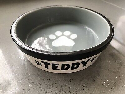 PERSONALISED Ceramic Puppy Dog Cat Feeding Or Water Bowl • 5.75£