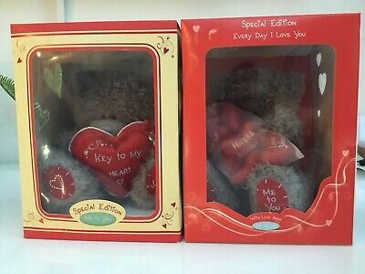 2x Special Edition Blue Nose Tatty Teddy Everyday I Love You & Key To My Heart • 13£