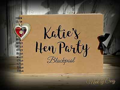 Scrapbook, A4 A5 Hen Do/Hen Party, Photo Album, Memory Book, Keepsake, Guestbook • 19.95£