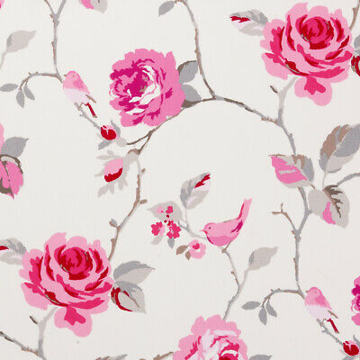 Clarke And Clarke Agatha Rose Raspberry Pink PVC WIPE CLEAN Tablecloth Oilcloth • 6.99£