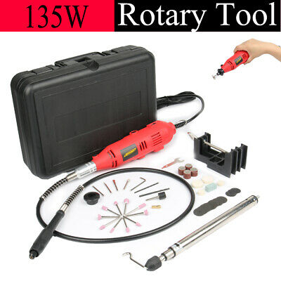 80Pc MULTI-PURPOSE ROTARY TOOL SET Electrical Dremel Engraving Hobby Craft Kit • 23.99£