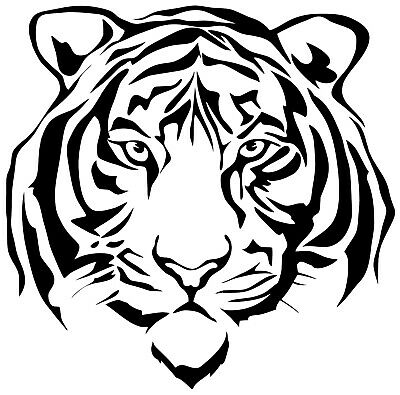 Tiger Vinyl Decal 12 Colours 3 Sizes Wall Nursery Window Laptop Car Sticker  • 2.49£