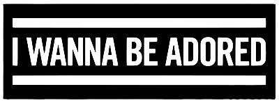 I Wanna Be Adored Vinyl Decal 12 Colours 6 Sizes Stone Roses Ian Brown Sticker • 7.99£