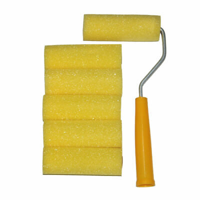£5.79 • Buy Mini Roller With 6 Foam Rollers Painting Decorating 4  Sponge Sleeves Refill