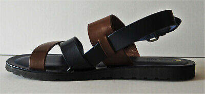 Leo Pucci Mens Brown Blue Leather Gladiator Sandals Made In Italy Size  9 €129 • 55£