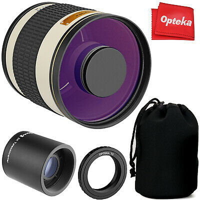 £77.17 • Buy Opteka 500mm/1000mm F6.3 Telephoto Mirror Lens For Canon EF EOS DSLR Cameras