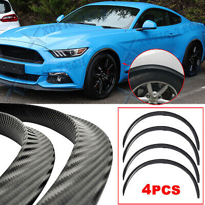 $ CDN36.50 • Buy For Ford Mustang Carbon Fiber Wheel Eyebrow Cover Trim Arch Fender Protector 4pc