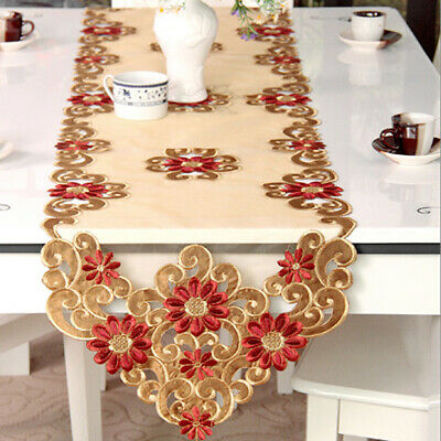 AU17.05 • Buy Vintage Embroidered Table Runner Kitchen Dining Wedding Party Decor Table Cover