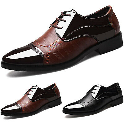 Men's Casual Two Tone Formal Office Smart Wedding Work Oxford Brogues Shoes Size • 18.49£