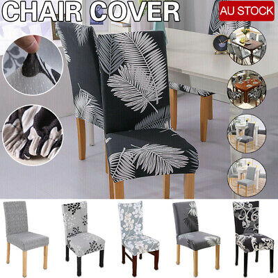 AU5.59 • Buy AU Stretch Dining Chair Covers Removable Washable Slipcover Banquet 1/2/4/6 Pcs