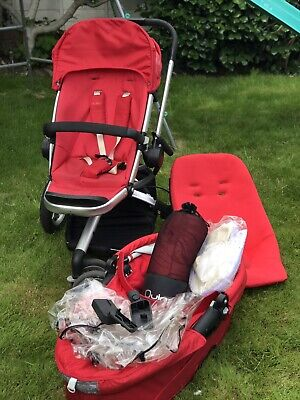 £100 • Buy Quinny Buzz Rebel Red Travel System Single Seat Stroller