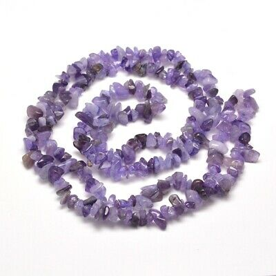 £4.25 • Buy Amethyst Natural Gemstone Chip Beads Purple 31  Strand 80cm Size 5mm To 8mm