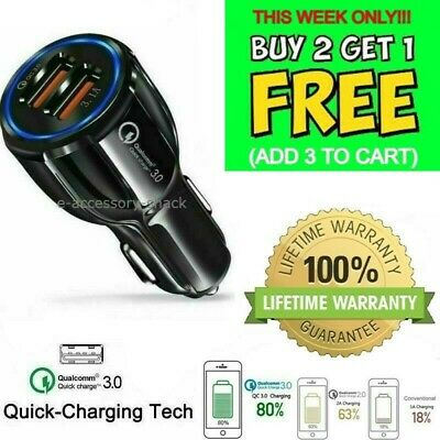 $ CDN9.99 • Buy 2 Port USB Fast Car Charger QC 3.0 Dual For Samsung IPhone Android Cell Phone