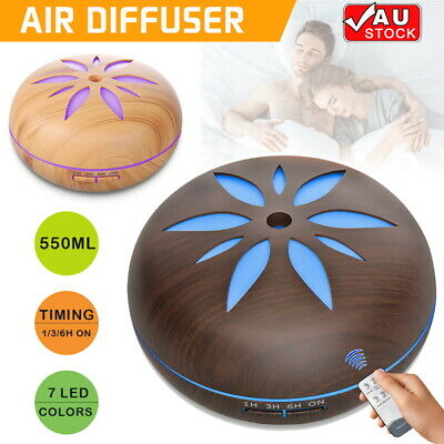 AU24.99 • Buy 550ml Essential Air Mist Oil Aroma Diffuser Ultrasonic Humidifier Aromatherapy