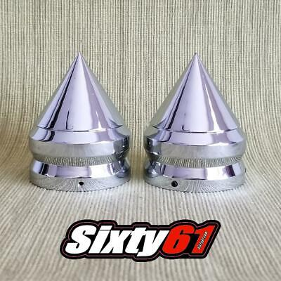 $57 • Buy Spike GSXR 600, 750, 1000 Fork Covers Caps Triple Chrome