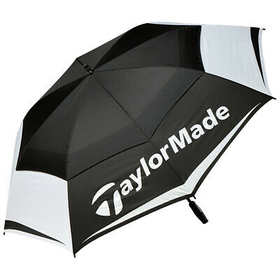 TaylorMade Tour Double Canopy 64  Golf Umbrella 2017 Black/White/Gray New • 43.69£
