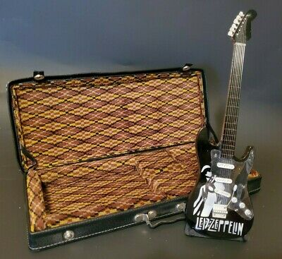 $ CDN32.77 • Buy Mini Replica Black And White Led Zeppelin Guitar With Stand And Case