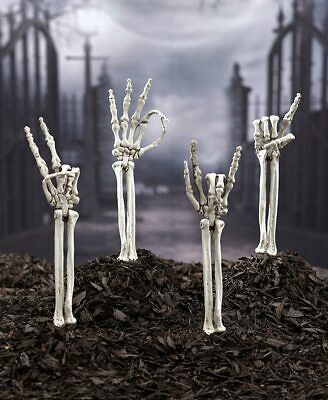 $ CDN19.36 • Buy 💢 Skeleton Hand Symbol Arm Stakes Outdoor Decorations Yard Art Halloween.