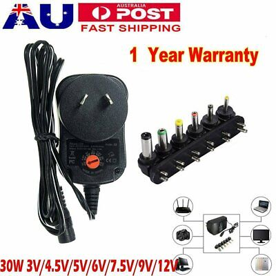 AU17.09 • Buy 30W Universal Power Supply Adapter Converter AC DC 3V 4.5V 5V 6V 7.5V 9V 12V AU