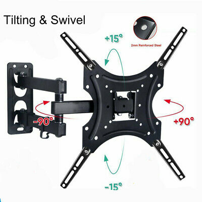 AU19.45 • Buy TV Wall Mount Bracket Full Motion Swivel Tilt LCD LED 17 32 40 43 47 50 55 Inch