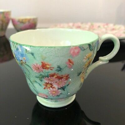 Shelley Melody Chintz Green Coffee Cup Only, Green Trim • 19.74£