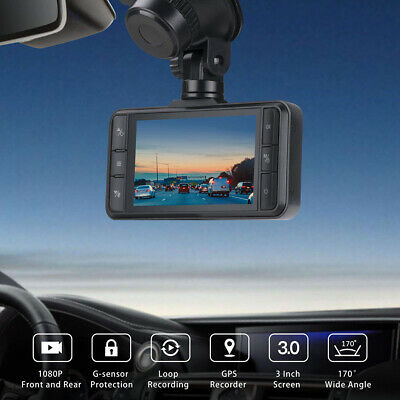 AU87.91 • Buy TOGUARD Both 1080P Dash Cam Front And Rear Dual Lens Car Camera 170° Dash Camera