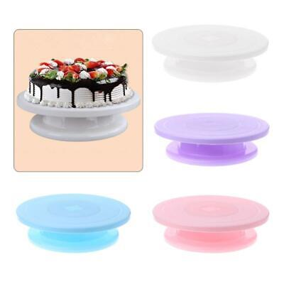 Rotating Cake Icing Deocrating Revolving Kitchen Display Stand Turntable • 4.79£