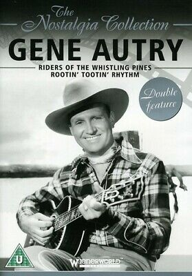 Gene Autry: Riders Of The Whistling Pines & Rootin New Dvd • 10.33£